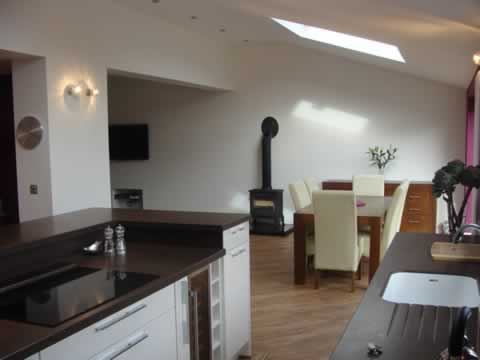 Kitchen and Dining extension, Worsley, Greater Manchester. Paul Donouhue Building Services